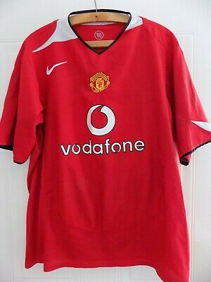 2004 2006 Original Nike Manchester United Home Football Soccer Jersey Shirt XL