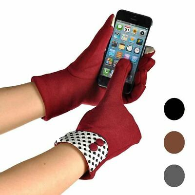 Women Full Gloves Finger Cotton Winter Mittens Wrist Fashion Touch Screen Warmer