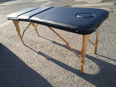 Massage / Therapy Auto-Folding pop-up Portable Table Black Flannel Cover Inc p&p
