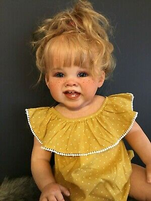 "Stunning Toddler Girl ""Adele"" By Ping Lau Reborning By Ema Bennett"