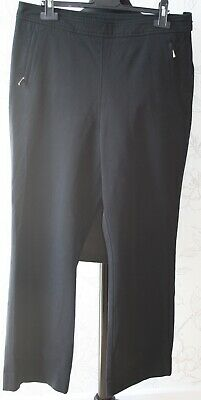 "NEW 1980s Vintage Marks & Spencer UK14/W34"" Thick Cotton Black Classic Trousers"