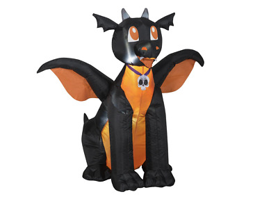 Halloween Inflatable 3.5 Ft Baby Dragon Black Gemmy Airblown NEW Yard Decor