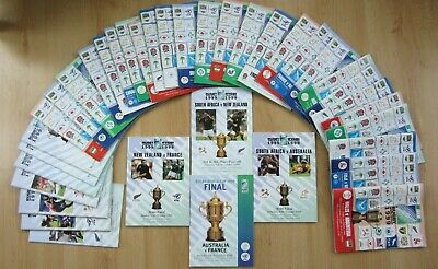 1999 Rugby World Cup Programmes - BOXED SET OF ALL 41 MATCHES - unused condition