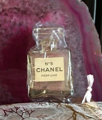 Vintage No.5 Chanel Perfume Glass Bottle 20% Full Eau De Parfum