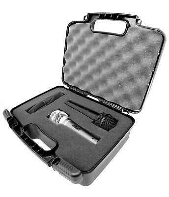 Microphone Case fits Dual(2) Shure Microphones Shure SM57 and More - Case Only