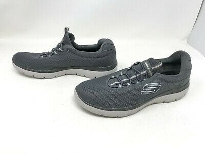 NEW! SKECHERS MEN'S SUMMITS Athletic Training Shoes Grey Med