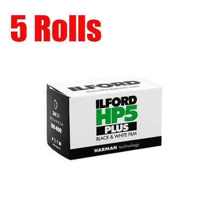 5 Rolls Ilford HP5 Plus 400 35mm 135-36EXP Black&White Print Film Fresh 2023