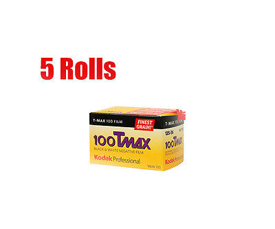 5 Rolls Kodak T-MAX100 Tmax 100 135-36 35mm B&W Black&White Film  Fresh 06/2021