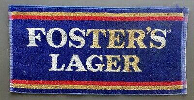 Fosters Lager. Cotton Bar Towel. Bar Runner. Used. 46cm x 23cm.