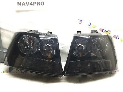 2007-2014 Chevrolet Tahoe Suburban Avalanche Halogen Headlight Pair #H465