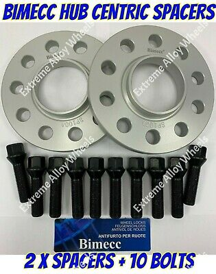 BOLTS SB BIMECC ALLOY WHEEL SPACERS 18mm X 2 BMW E23 E32 E38 E31 7 8 M12X1.5