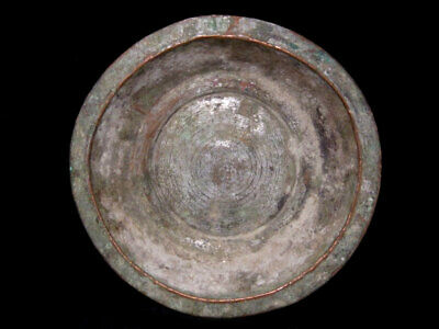 Attractive Post Medieval Household Copper Plate In As Found Condition, Marked+++