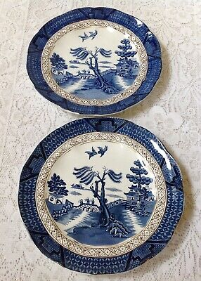 Booths Real Olde Willow, Silicon China Two Plates