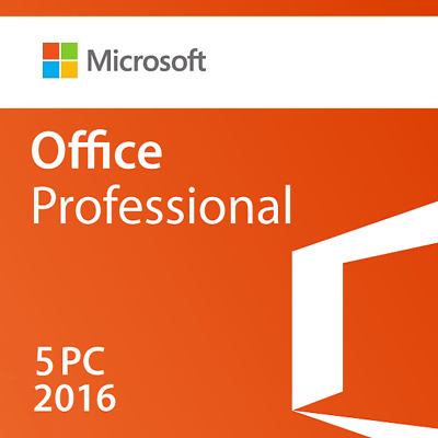 Microsoft Office Professional 2016 - 5 Pc (Retail Sealed)