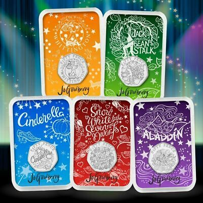 CHRISTMAS PANTOMIME 50p COIN SET SIGNED BOXED SET IN CAPSULES ONLY 150 MADE***