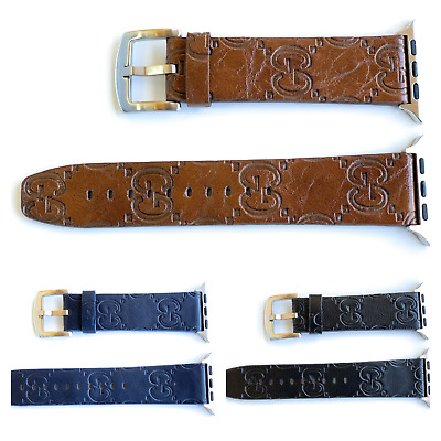 Designer Bundle of 2 Leather Apple watch band GG strap for series 1/2/3/4/5