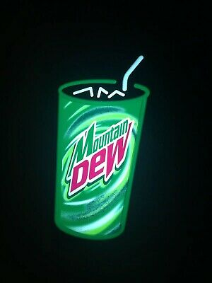 Dew Soda Pop Drink Sign Note Pad Memo Holder retro Mountain Mt