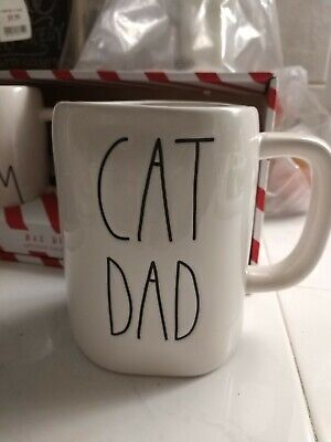 Rae Dunn Artisan Collection (Cat Dad) Coffee mug NEW HTF