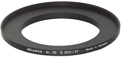 LN Heliopan #115 Step-Up Ring: 67mm - 95mm  -  SOLID BRASS!
