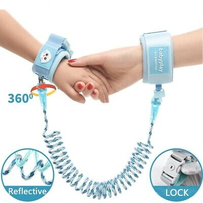 Baby Child Anti Lost Wrist Link Kids Walking Safety Rope Leash Reflective