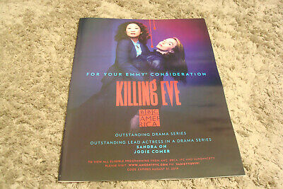 KILLING EVE 2019 Emmy ad Sandra Oh as Eve Polastri, Jodie Comer as Villanelle