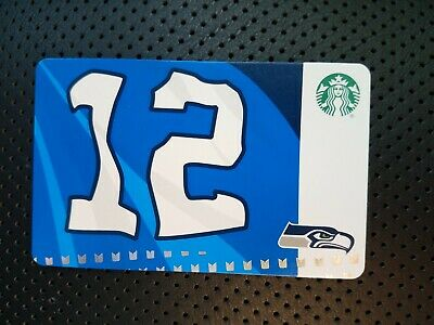 Starbucks 2019 Seattle Seahawks Gift Card.  NEW.  PIN intact