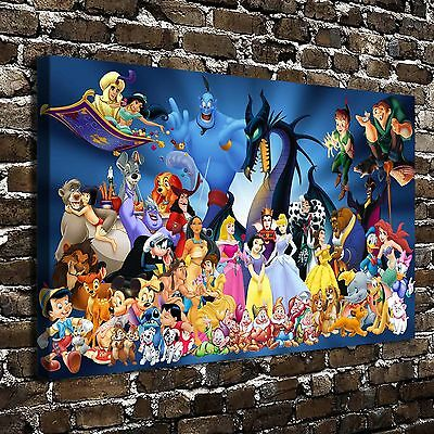 "16""x26""Disney character Paintings HD Print on Canvas Home Decor Wall Art Picture"