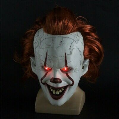 Stephen King's It Chapter Two Joker Pennywise Clown Cosplay Mask Halloween Prop