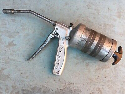 Vintage Wanner Swiss Made Large Capacity Grease Gun for Classic Cars Motorcycle
