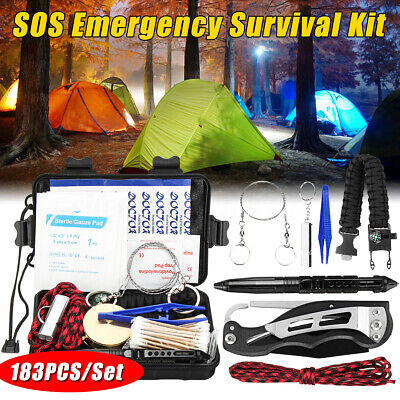 Outdoor SOS Emergency Survival Equipment Tactical Tool Hiking Camping Sports Kit