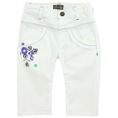 JEAN BOURGET Girls white skinny stretch trousers  4 years