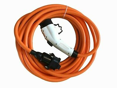 EV / PHEV cable extension lead. Type 1 to Type 1. 10 Meters, 32amp, 240v + Case