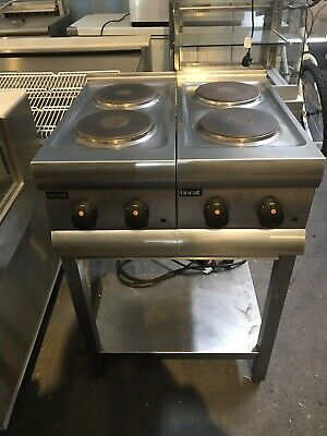 2 x Lincat HT3 Electric 2 Hob Boiling Ring Hot Plate Cooker With Stand