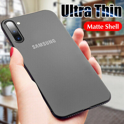 For Samsung Note 10 Plus 10 9 8 Ultra Thin 0.3mm Matte Hard Back Cover Skin Case