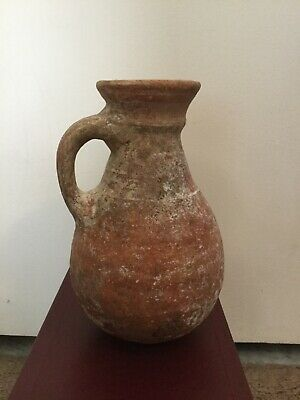 Iron  age ll  terra cotta jug Certificate of Antiquity 930-586 B.C.E