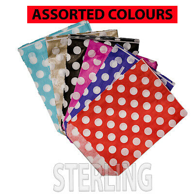 """100x  CANDY POLKA PAPER BAGS DOTS SWEET GIFT PARTY SWEETS  5""""x7"""""""
