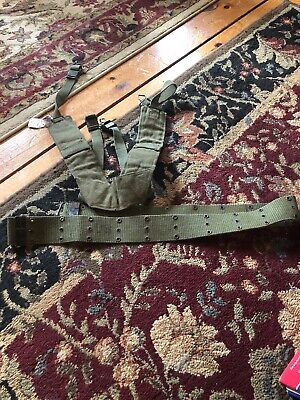 Vietnam US Army M1956 field gear lot Suspenders  pistol web belt