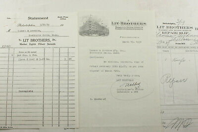 1930 Lamson Goodnow Lit Brothers Repair Slips Philadelphia PA Ephemera P1383C