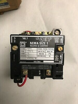Square D 8502 SCO-2 AC Magnetic Size 1 Contactor
