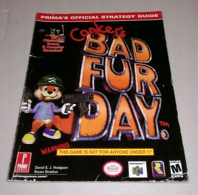Conker's Bad Fur Day Prima Strategy Guide (Nintendo 64) SHIPS FREE