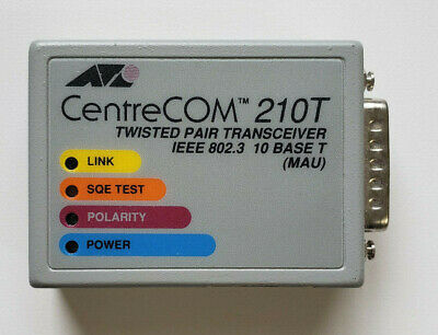 Cisco ETHERNET AUI TRANSCEIVER CentreCOM AT-210T  Cisco 2501 2511 Free Shipping