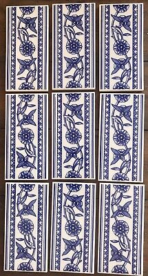 H R Johnson Delft blue white Border Tiles 9 Off
