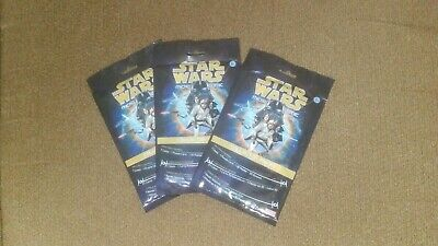 (3) Star Wars Micro Comic Collector Packs Sealed Puzzle Card, Poster, Comic IDW