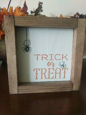 Reclaimed Wood Halloween Trick Or Treat Sign