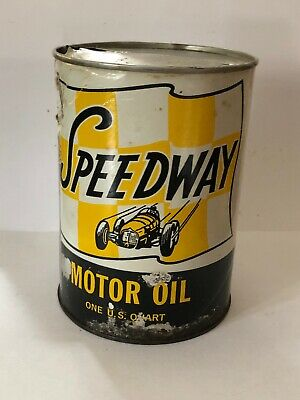 Speedway Motor Oil Empty Quart Can