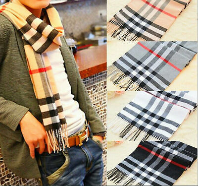 Mens Womens Scarf Scarves Soft Touch TARTAN Check Shawl Stole Wrap