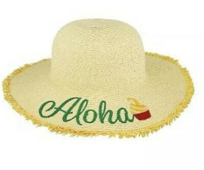 Disney Parks Straw Hat for Women-Dole Whip Pineapple Swirl-Aloha-NWT