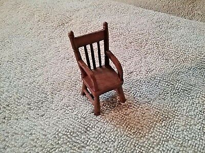 Dollhouse Miniature Rustic Plastic Tiny Brown Chair Crafts DIY Fairytale