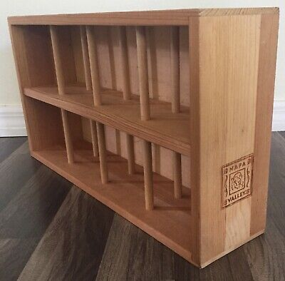 Napa Valley Box Company 96 CD Rack Vintage USA Oroginal Natural Wood Finish