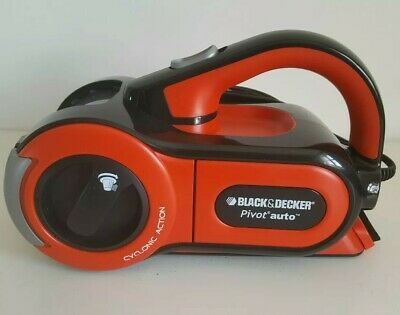 Black & Decker Pav1205 Dustbuster Pivot Auto Vacuum Cleaner - Orange/ Black 12V
